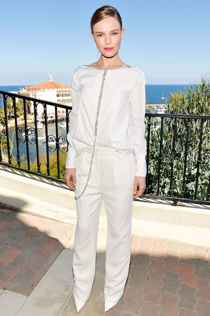 At the 2013 Catalina Film Festival, Bosworth wore an all-white ensemble.