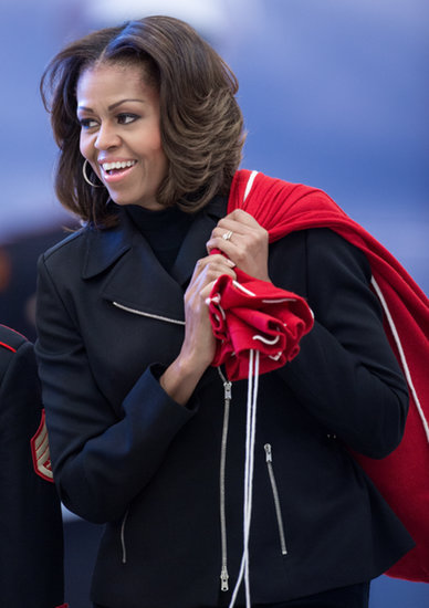 Michelle Obama did her best Mrs. Claus for the toy drive.