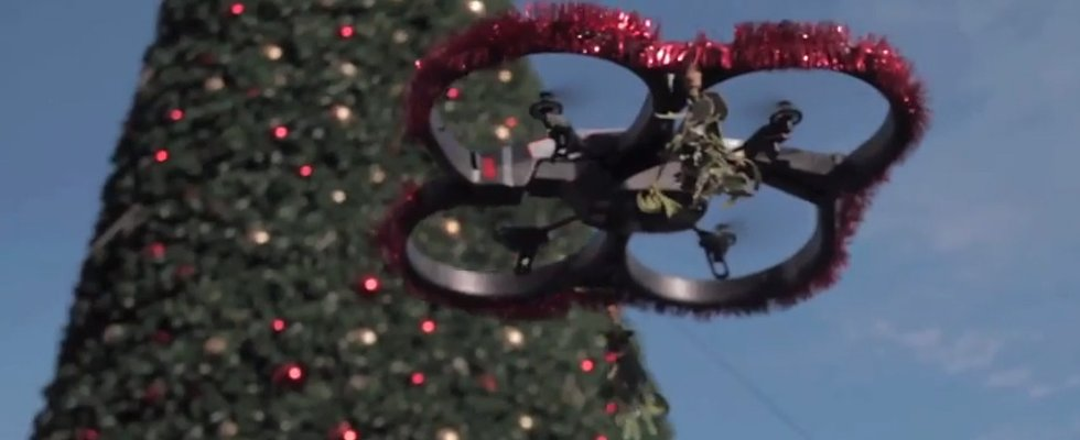 Pucker Up, the Mistletoe Drones Are Here