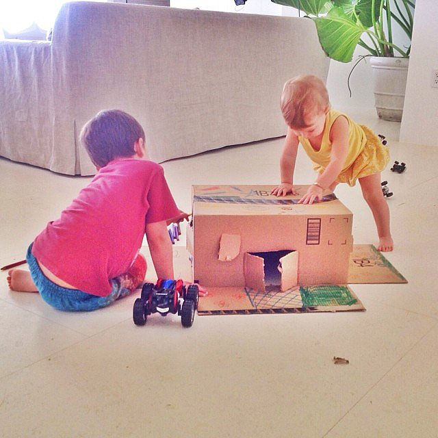 Gisele Bündchen showed off her son Benjamin's home for his toy cars.  Source: Instagram user giseleofficial