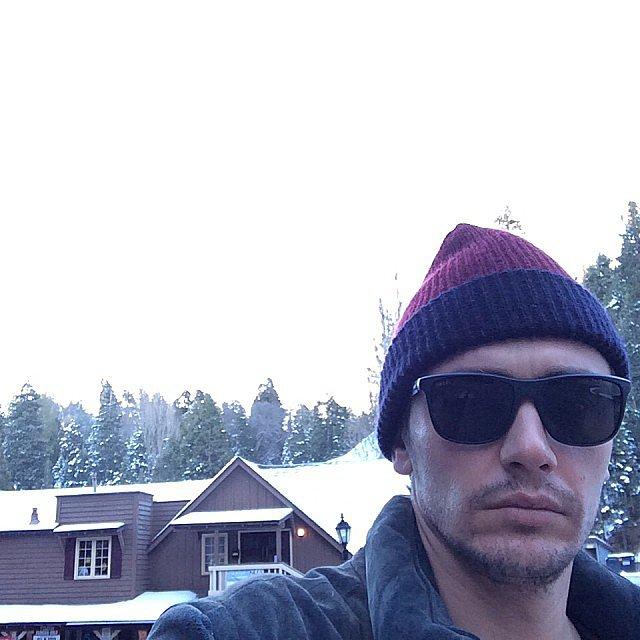 James Franco took a selfie in Lake Arrowhead, CA.  Source: Instagram user jamesfrancotv