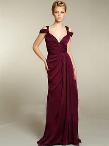 Prom Dresses Ruffles V Neck Sheath Chiffon Floor Length [VGUPN8Q3K99] - $179.00 : Homecoming Dresses Cheap Sale