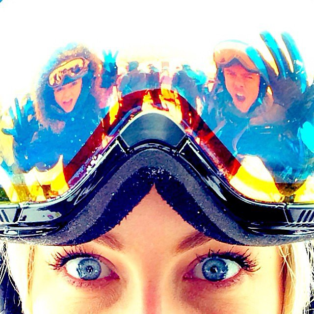 Julianne Hough hit the slopes with brother Derek Hough and best friend Nina Dobrev. Source: Instagram user juleshough