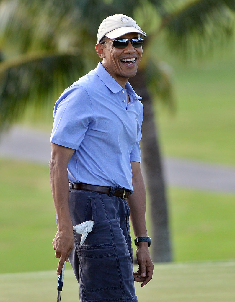 The President Enjoyed a Round of Golf in Hawaii