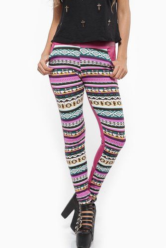 Tribal Print Candy Holiday Leggings