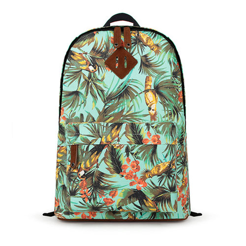 Image of [grxjy520231]Leisure Folk Style Flower   Print Travelling Bag Backpack