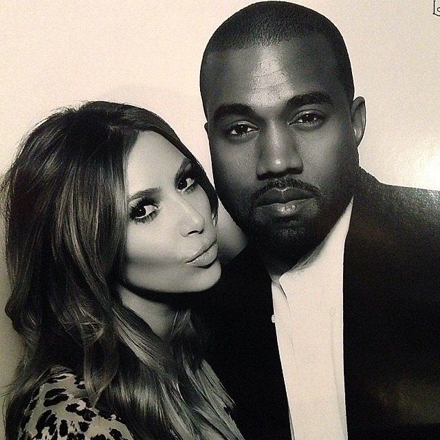 Kim Kardashian shared a cute photo with Kanye West. Source: Instagram