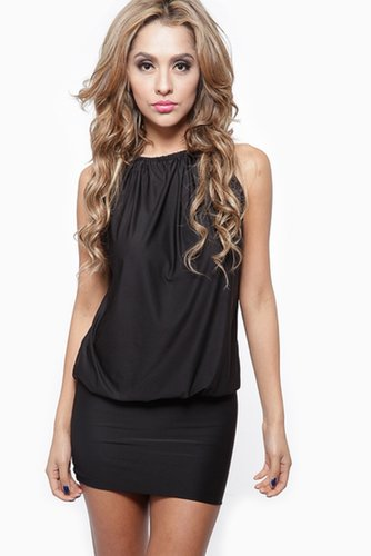 Black Draped Metallic Chain Neckline Dress @ Cicihot sexy dresses,sexy dress,prom dress,summer dress,spring dress,prom gowns,tee