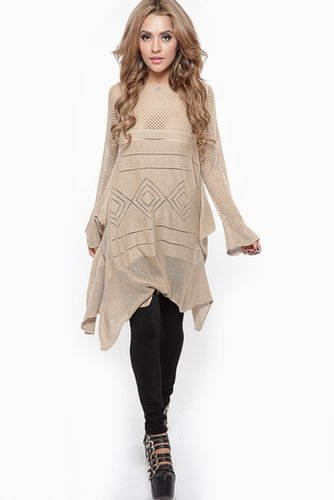 Tribal Knit Winter Dress - What's New