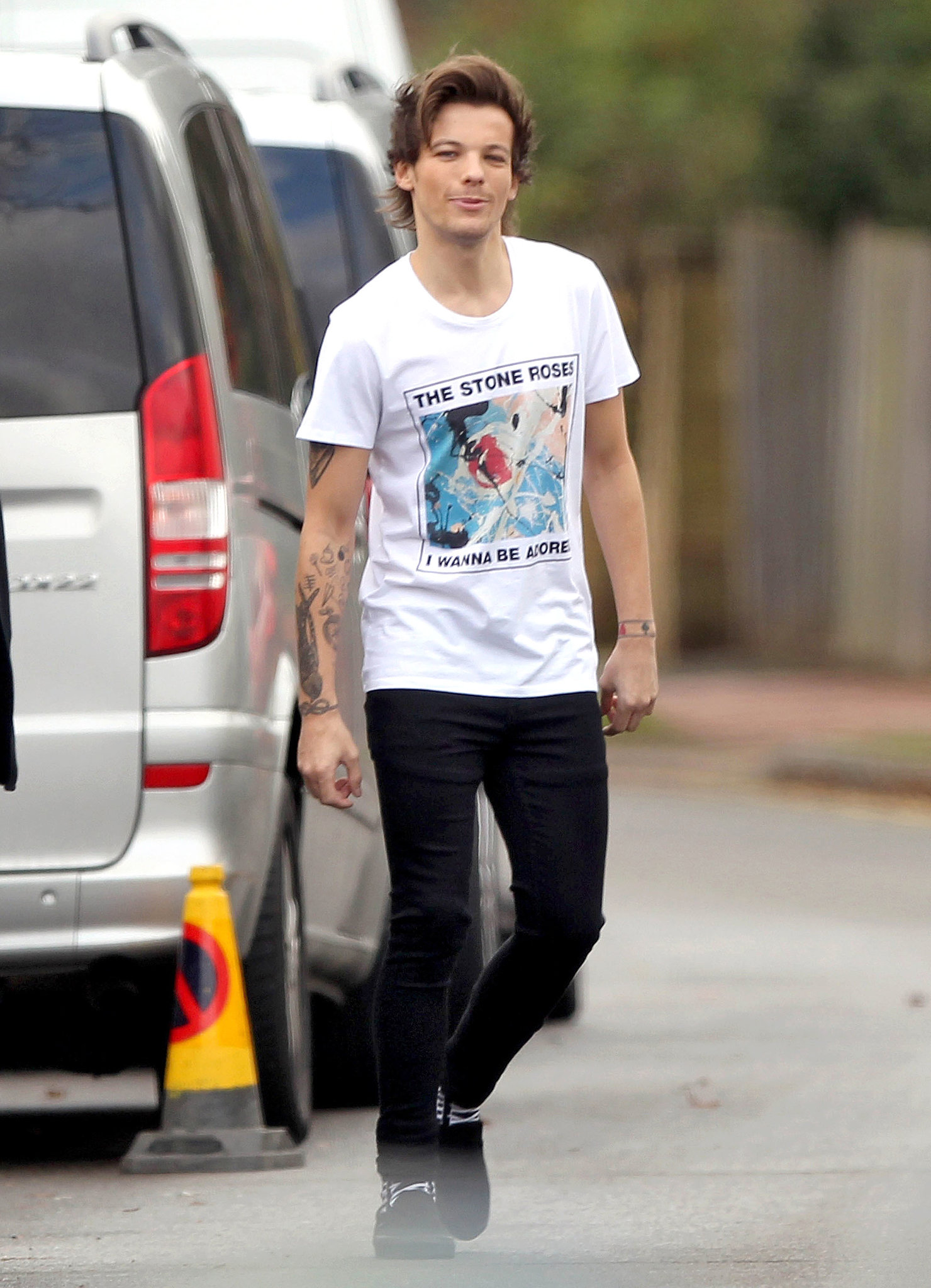 Louis Tomlinson was out with his fellow bandmates over the weekend.