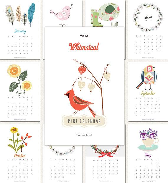 Free Printable 2014 Calendar | POPSUGAR Smart Living