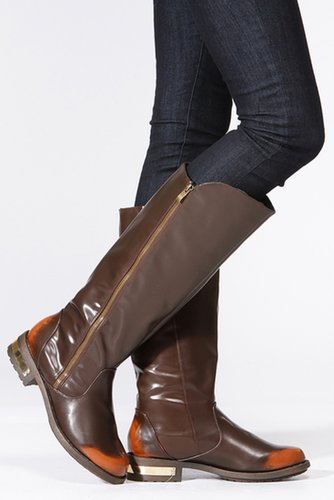 Zipper Round Toe Riding Knee High Boot @ Cicihot Boots Catalog:women's winter boots,leather thigh high boots,black platform knee