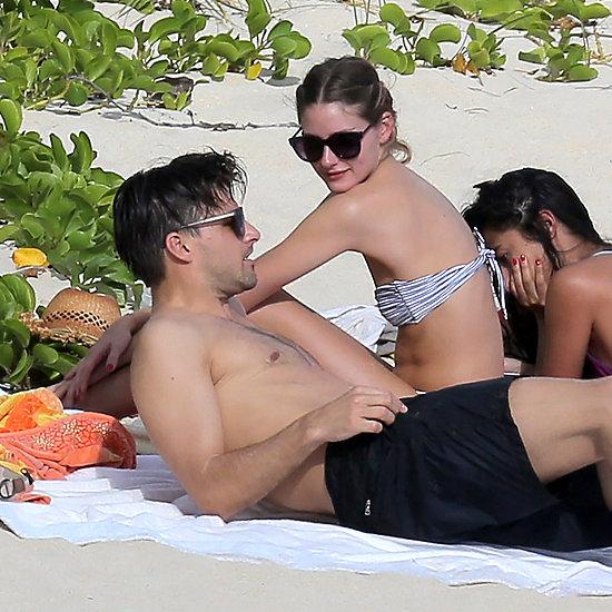 Olivia Palermo In Bikini On Beach With Johannes Huebl