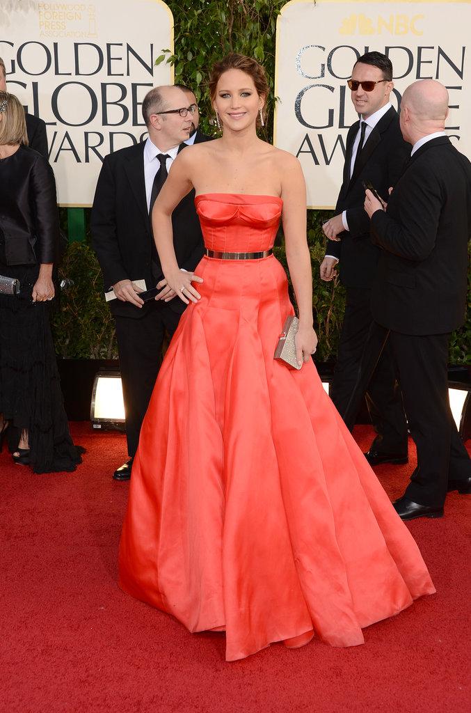 Jennifer Lawrence in Christian Dior in 2013.