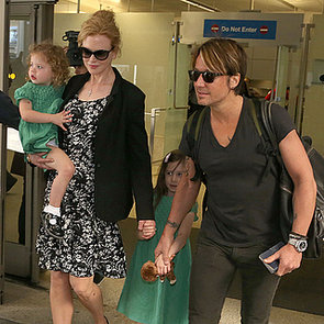 Nicole Kidman, Keith Urban At Sydney Airport With Daughters