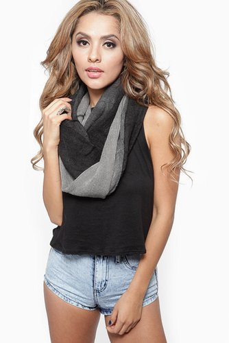 Dark Shadow Ombre Infintiy Scarf