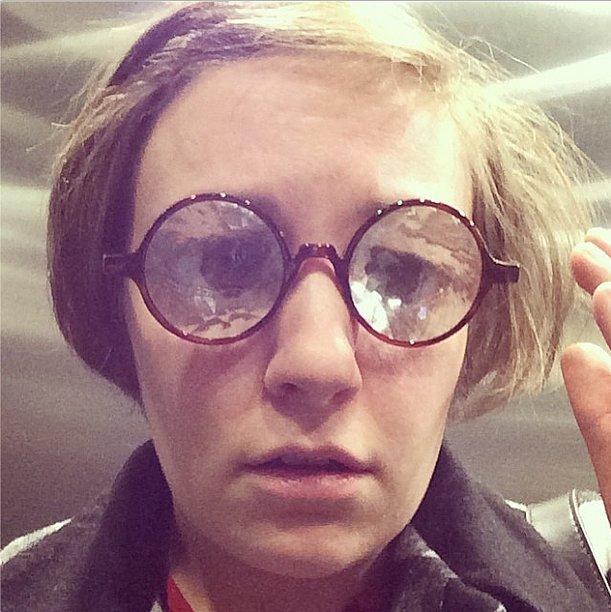 These frames were definitely not Lena Dunham's prescription. Source: Instagram user lenadunham