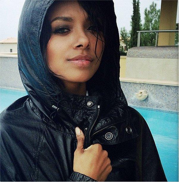 Kat Graham was ready for a rainstorm. Source: Instagram user katgrahampics