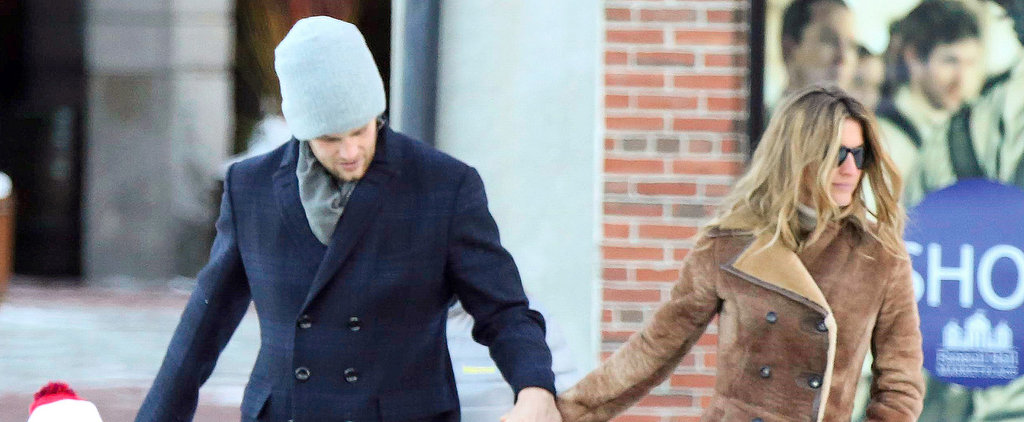 """Tom and Gisele Have a """"Perfect Sunday"""" in Boston"""