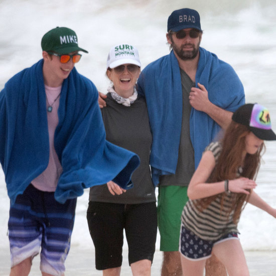 Julianne Moore and Her Kids in Mexico