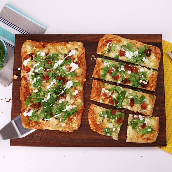 Flatbread With Potatoes, Blue Cheese, Bacon, and Scallions