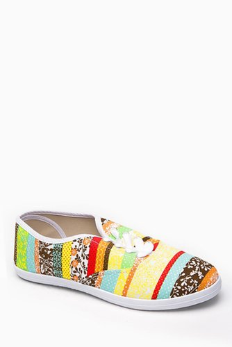 Multi Colored Canvas Sneakers @ Cicihot Flats Shoes online store:Women's Casual Flats,Sexy Flats,Black Flats,White Flats,Women's