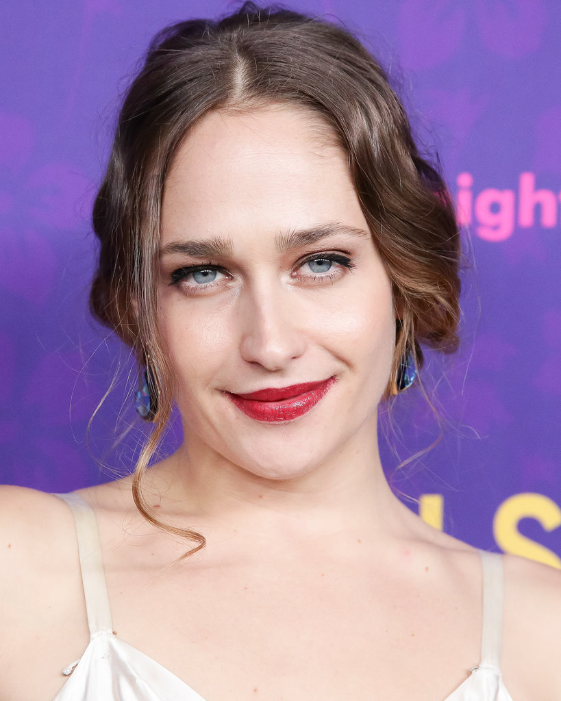 Jemima Kirke's candy-apple-red lipstick was the perfect counterbalance to her champagne shadow and thick black eyeliner.