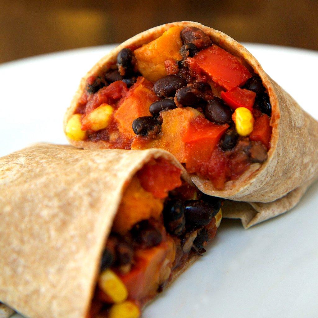 Vegan Sweet Potato and Black Bean Burrito | POPSUGAR Fitness