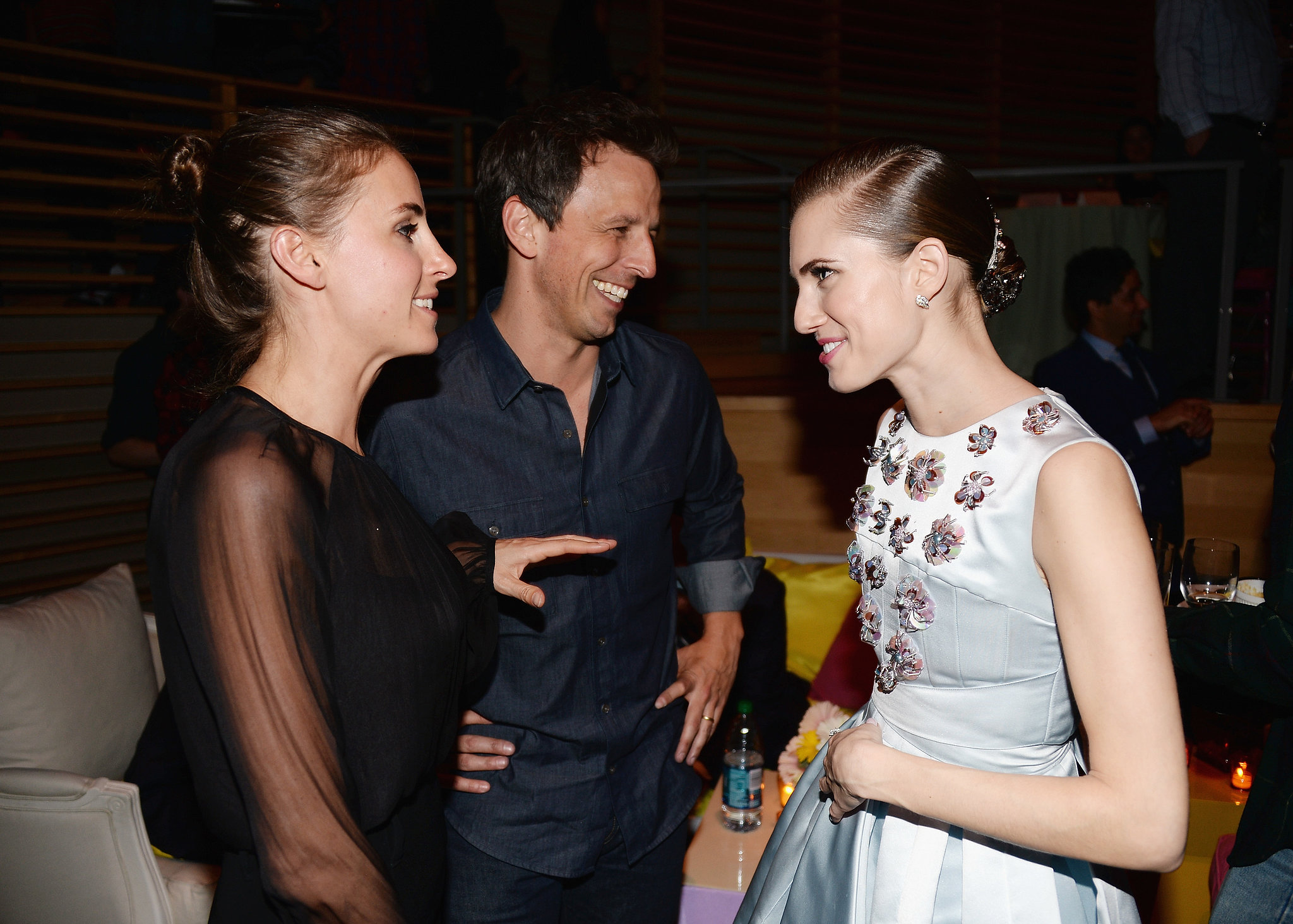 Allison chatted with Seth Meyers and his wife, Alexi Ashe.