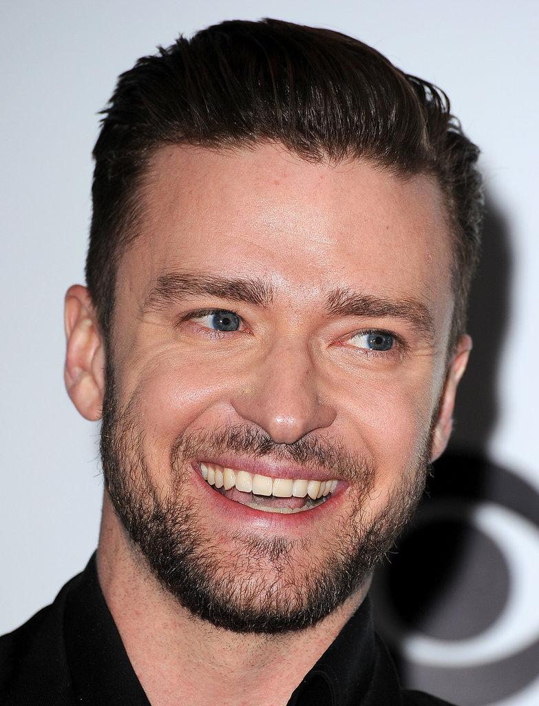 Justin Timberlake showed off Justin Timberlake Smiling