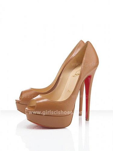 Christian Louboutin Pumps Lady Peep 150mm Camel