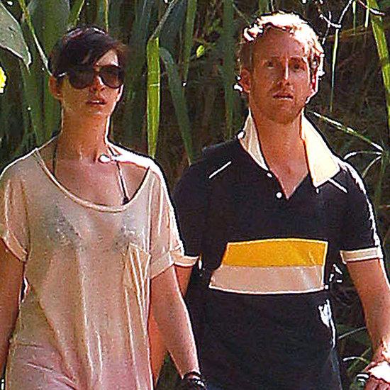Anne Hathaway and Adam Shulman in Hawaii