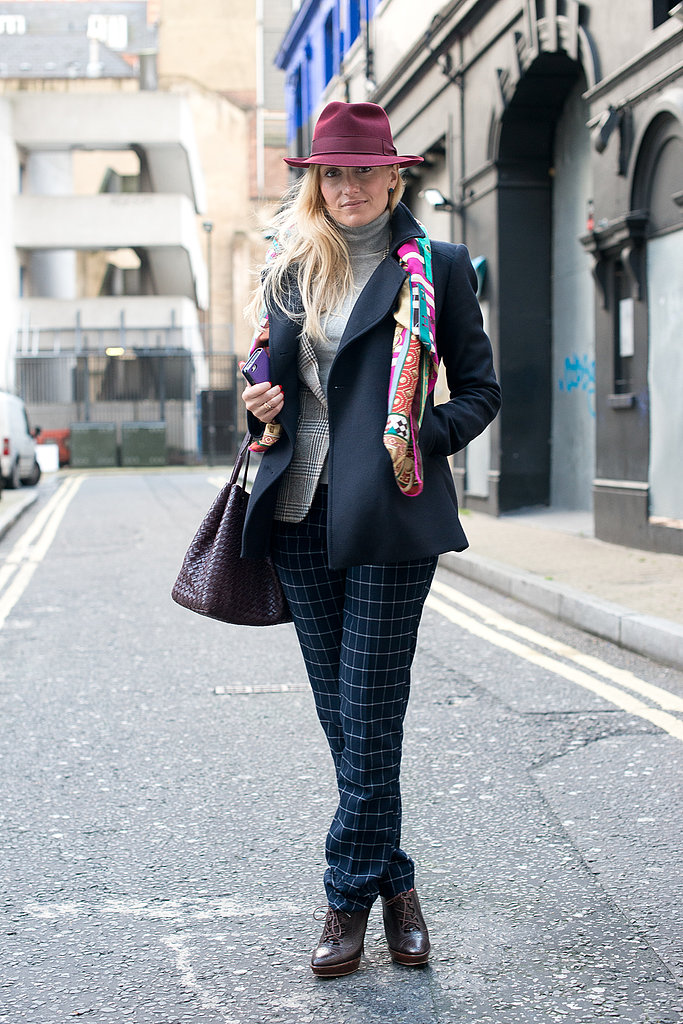 You too can mix plaid and checkered prints like this pro.