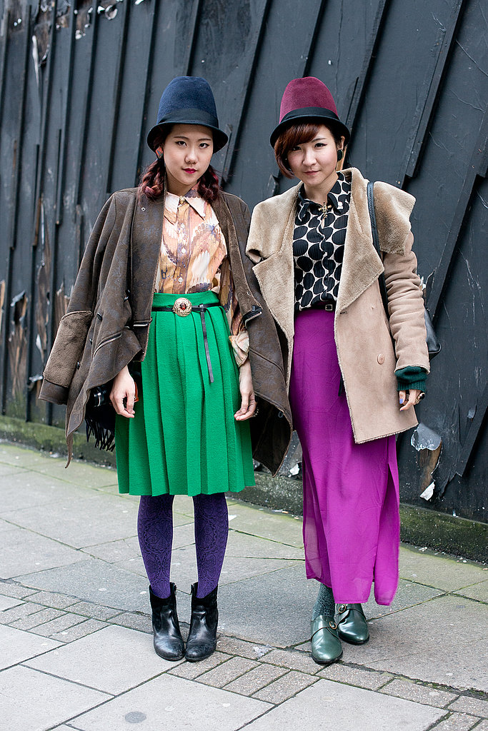 These showgoers kept it coordinated in bold colors and cloche hats.