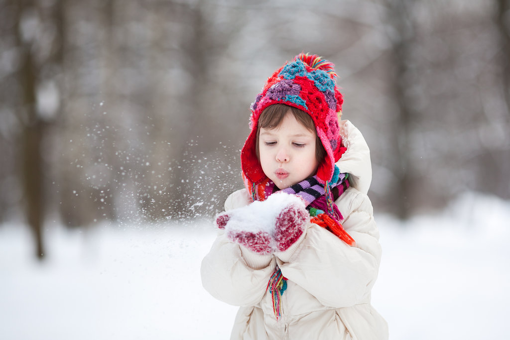 Kids with Snow