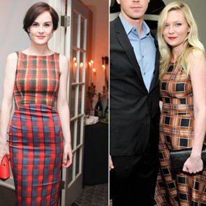 Michelle Dockery plaid Dress
