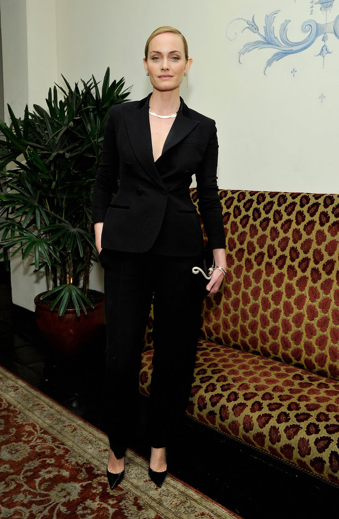 Amber Valletta at W magazine's Golden Globes party.
