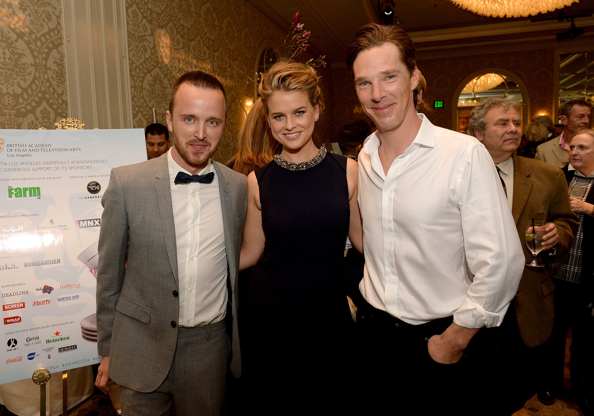 Gang's all here! Aaron Paul, Benedict Cumberbatch, and Alice Eve smiled for the camera.