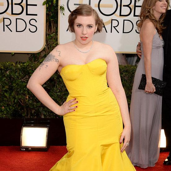 2014 Golden Globes Lena Dunham