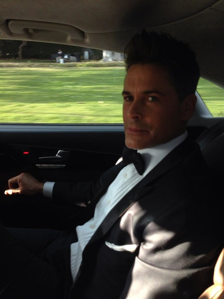 Rob Lowe sported a dapper look for the Golden Globes. Source: Twitter user RobLowe