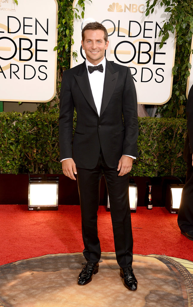 Bradley Cooper looked as handsome as ever on the Golden Globes red carpet.