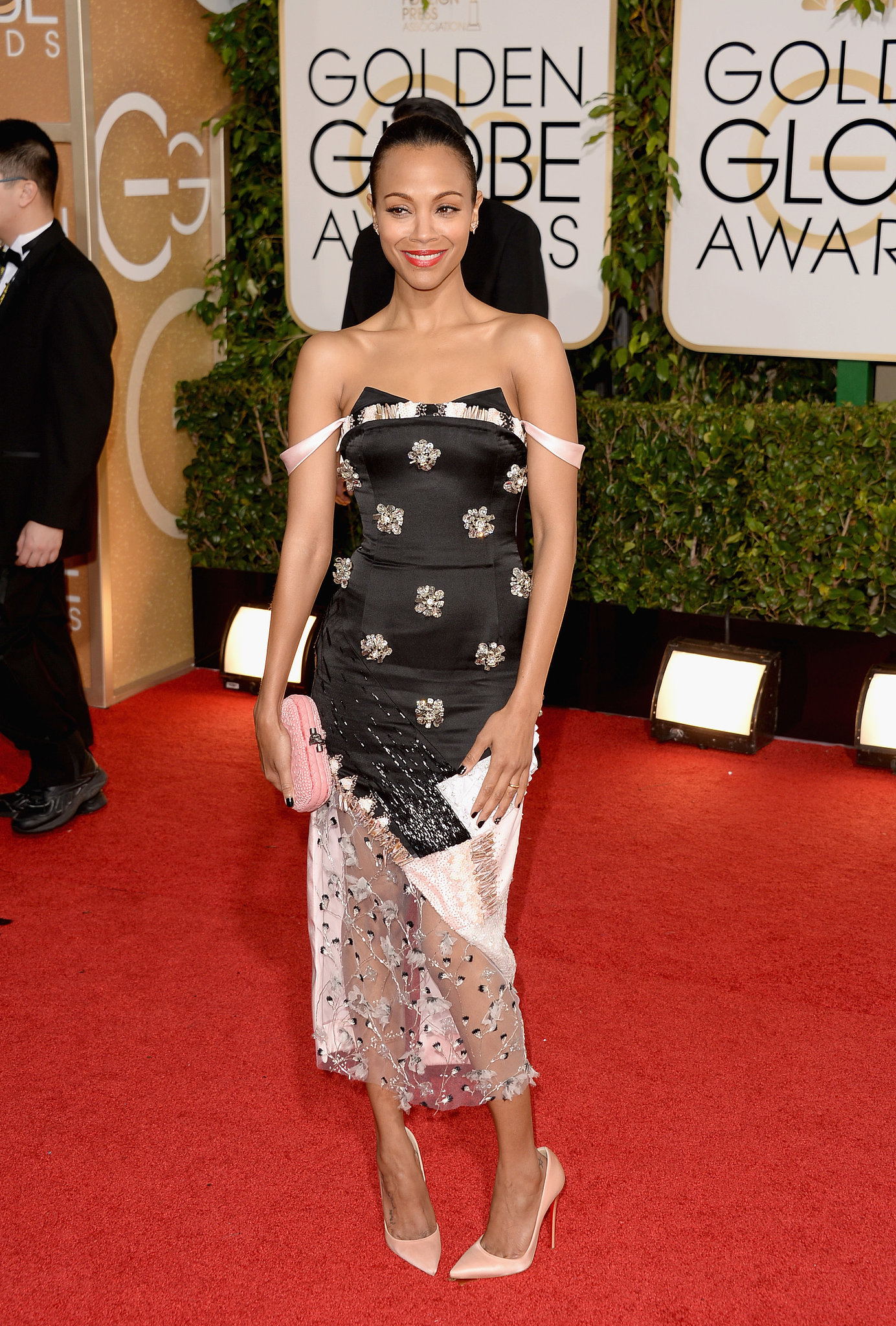 Zoe Saldana took a style risk in her Prabal Gurung gown.