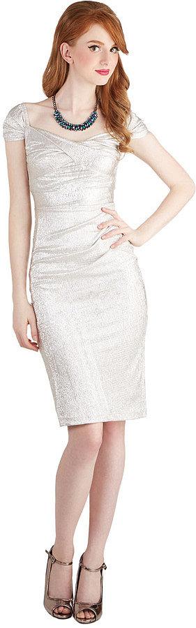 ModCloth Silver Short Sleeve Dress