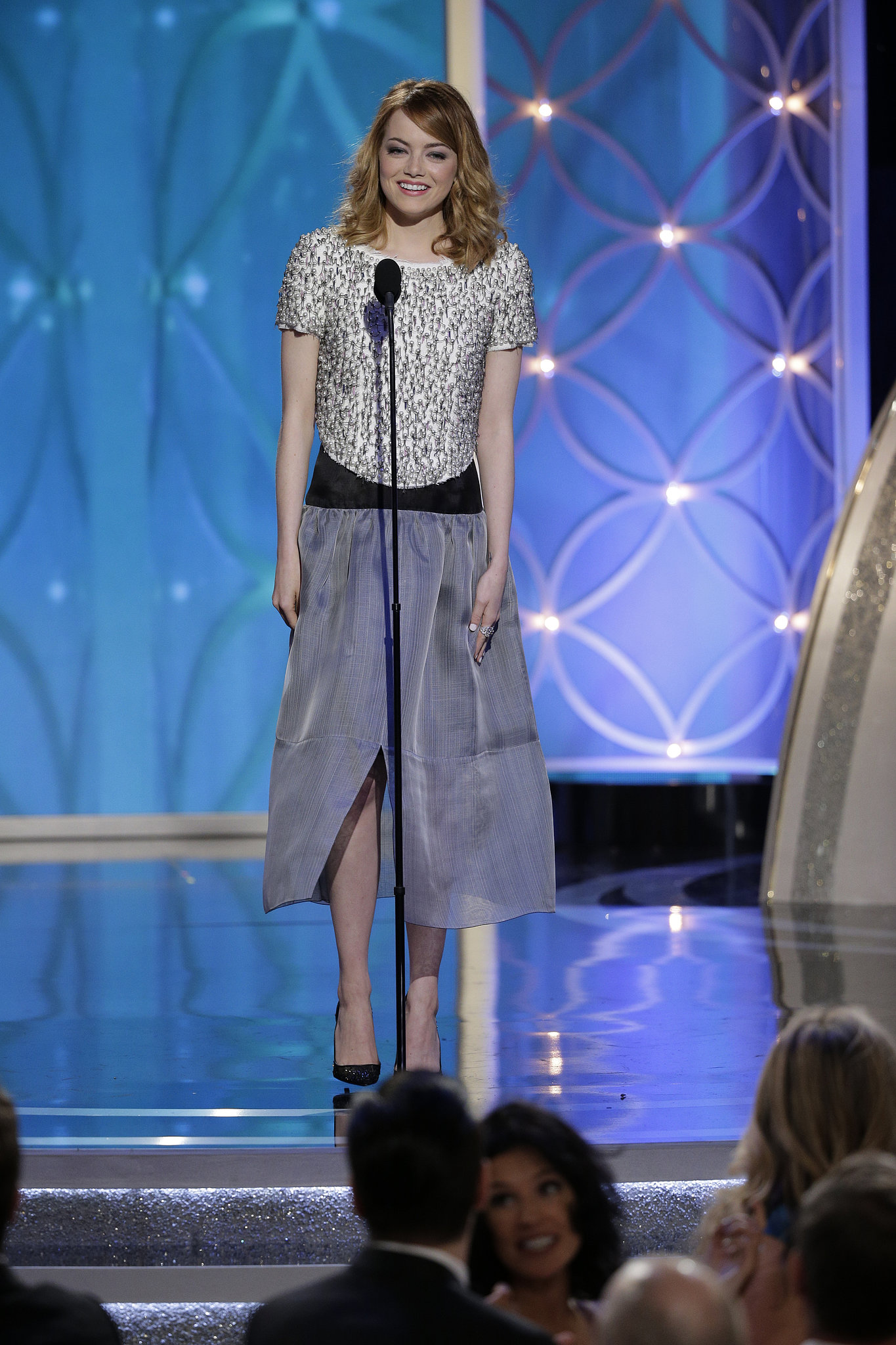 Emma Stone at the Golden Globes 2014 | What Every Star ...  Emma Stone Golden Globes