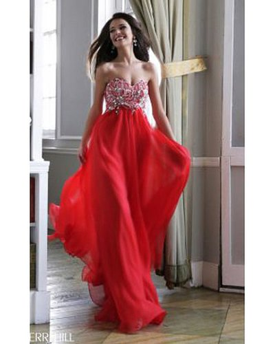 Sherri Hill 3907 Red Evening Dress