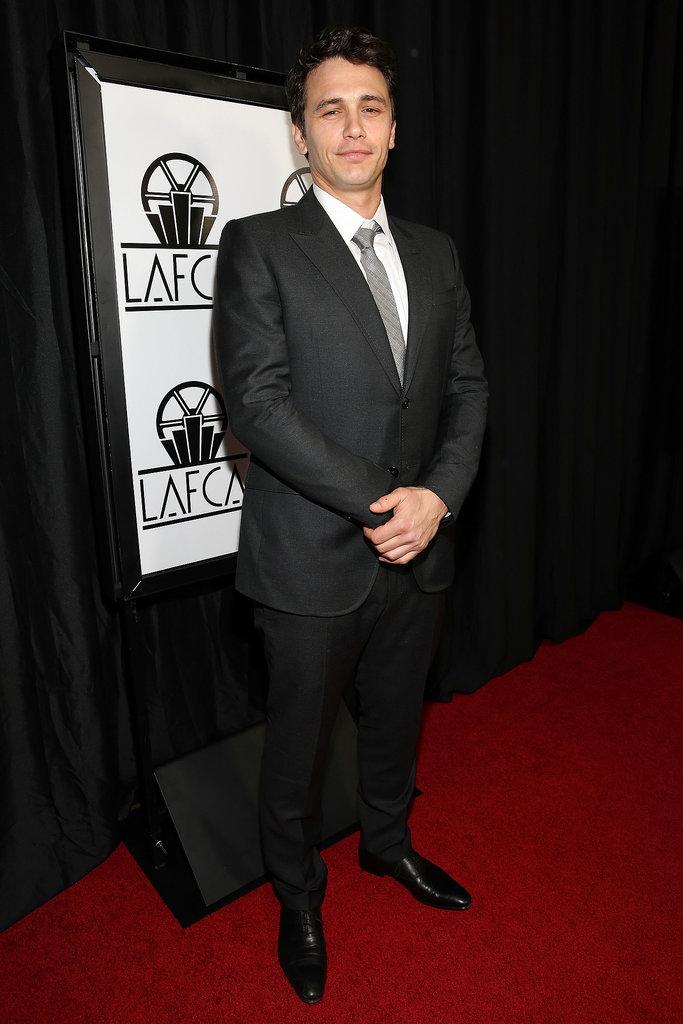 On Saturday, James Franco attended the LA Film Critics Association Awards.