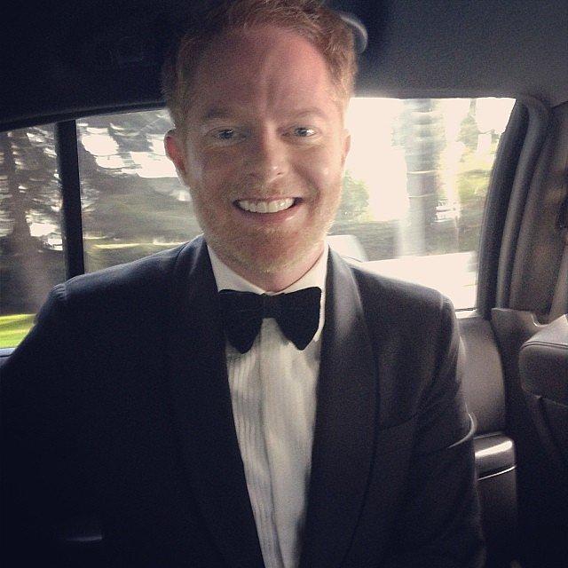 Jesse Tyler Ferguson showed off his bow tie on his way to the show. Source: Instagram user jessetyler