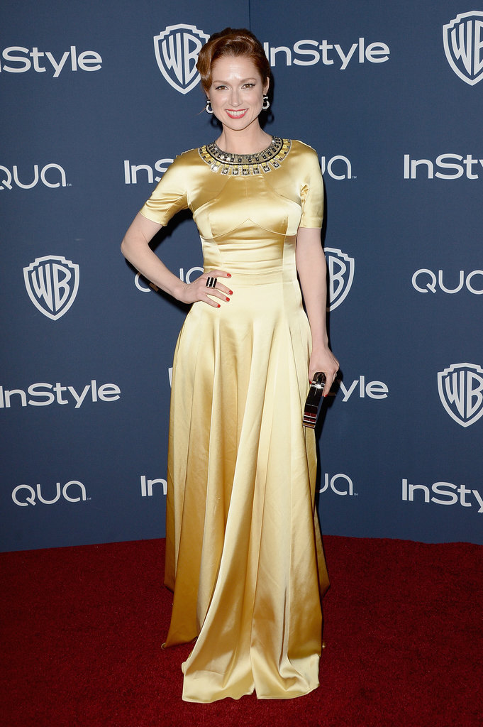 Ellie Kemper at the InStyle Golden Globes Afterparty