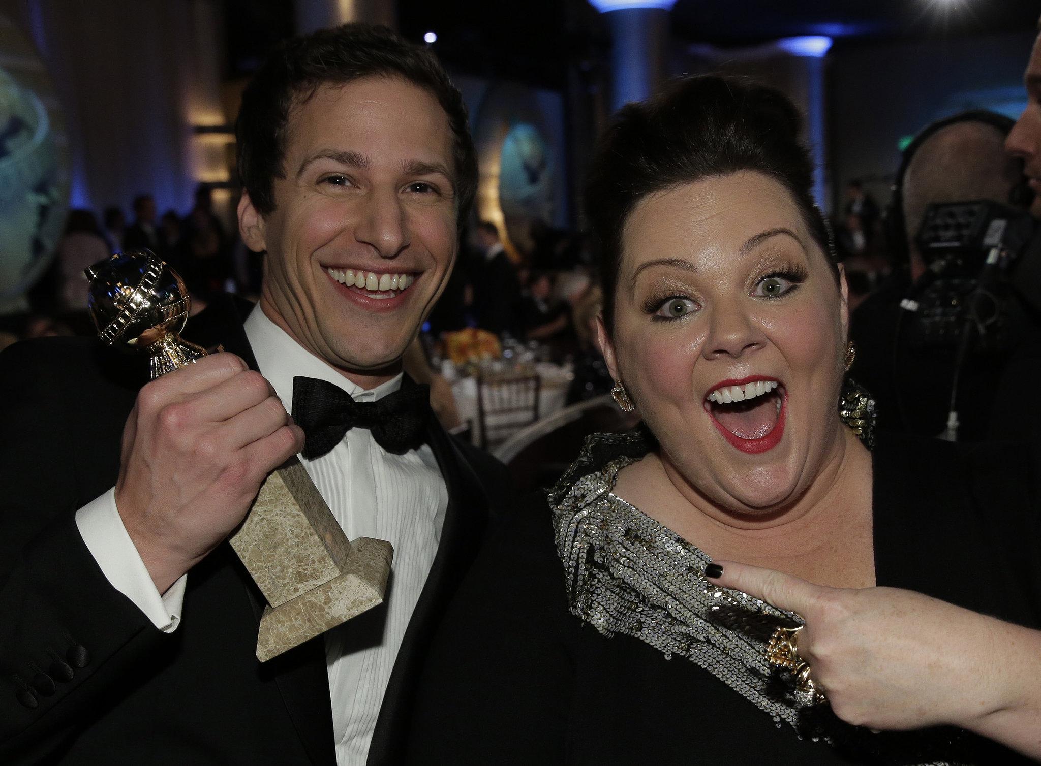Andy Samberg and Melissa McCarthy