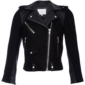 Iro Adila Suede & Leather Moto Jacket